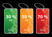Vector illustration of discount sale tags — Stock Vector