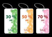 Ilustración vectorial de etiquetas descuento venta — Vector de stock