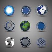 Sammlung von globus-designs — Stockvektor