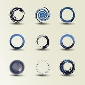 Collection Of Circle Designs — Stock Vector
