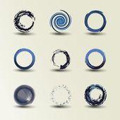 Colección de diseños de círculo — Vector de stock