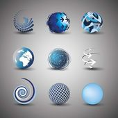 Collection Of Globe Designs — Stock Vector