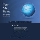 Vettore di modello di sito Web — Vettoriale Stock