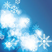 Christmas background with snowflakes - vector — Stock Vector