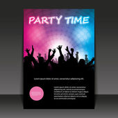 Flyer Design - Party Time — Stock Vector