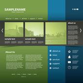 Website Template — Stock Vector