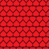 Vecteur de fond pour le motif coeurs — Vecteur