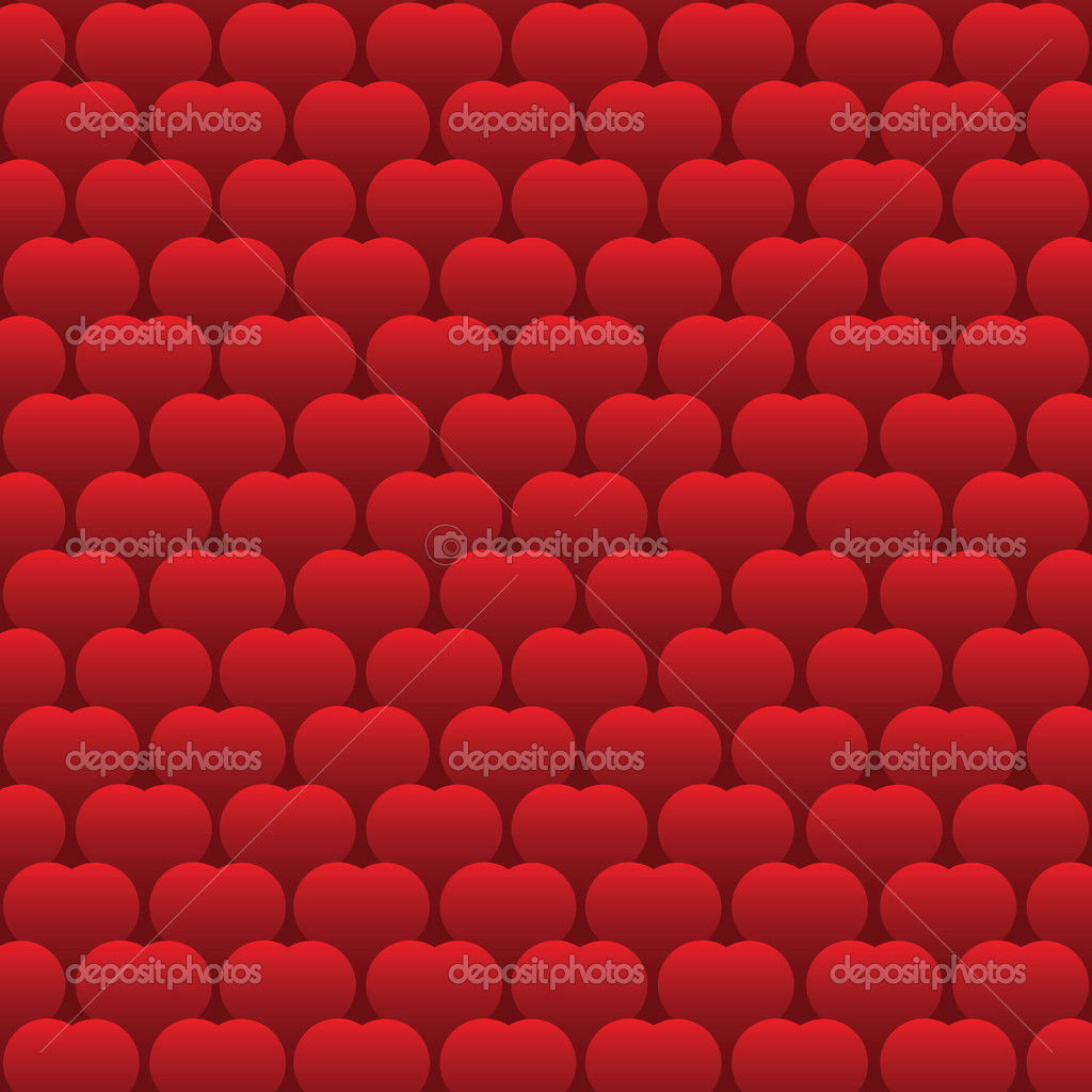 Red Hearts Pattern Background -  vector design — Stock Vector #8504575