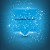 Глянцевый речи пузырь — Cтоковый вектор