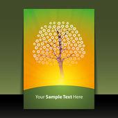 Flyer or Cover Design - Spring — Stock Vector