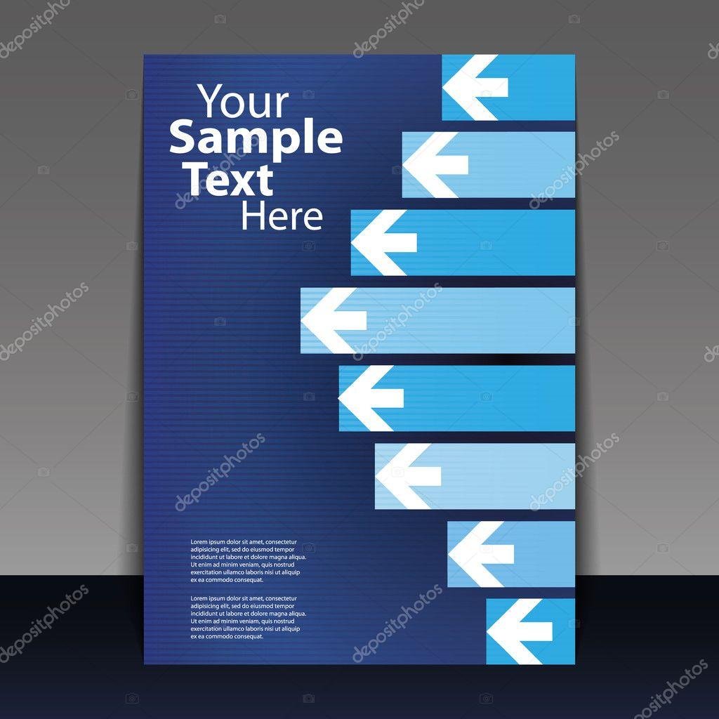 flyer design business stock vector copy bagotaj  blue business flyer or cover arrows design in editable vector format vector by bagotaj