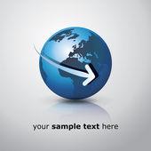 Earth Globe Design Vector — Stock Vector
