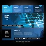 Website Template Vector — Stock Vector #9139494