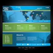 Vecteur de modèle de site web — Vecteur