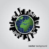 Eco Globe Vector — Stock Vector