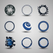 Collection Of Circle Designs — Stock Vector #9494840