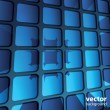 Abstract 3D Geometric Mosaic Background - Vektorgrafik