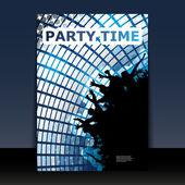 Diseño de cubierta o folleto - tiempo de fiesta — Vector de stock