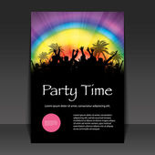 Flyer Design -Party Time — Vettoriale Stock