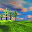 Stock Photo: Landscape and trees