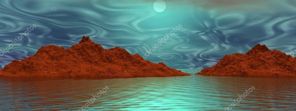Mountains and sky blue — Stock Photo #10666333