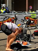 Triathlon Geneva, Switzerland — Stock Photo