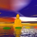 Steps chakra and buddha — Stock Photo