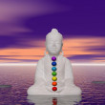 Buddha and chakras — Stock Photo