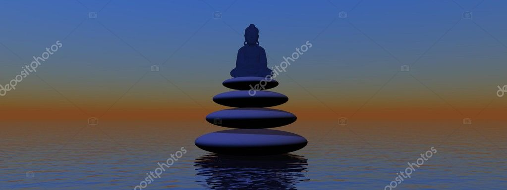 Stones and buddha — Stock Photo #9052897