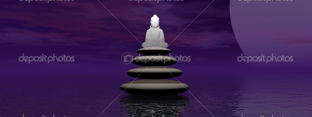 Buddha and moon — Stock Photo #9052901