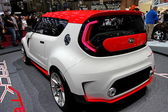 Kia Track'ster red and white — Stock Photo