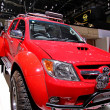 Постер, плакат: Toyota Hilux red
