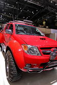 Toyota Hilux red — Stock Photo