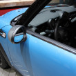 Stock Photo: Blue Mini Cooper S