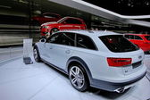 White car Audi A6 Allroad — Stock Photo
