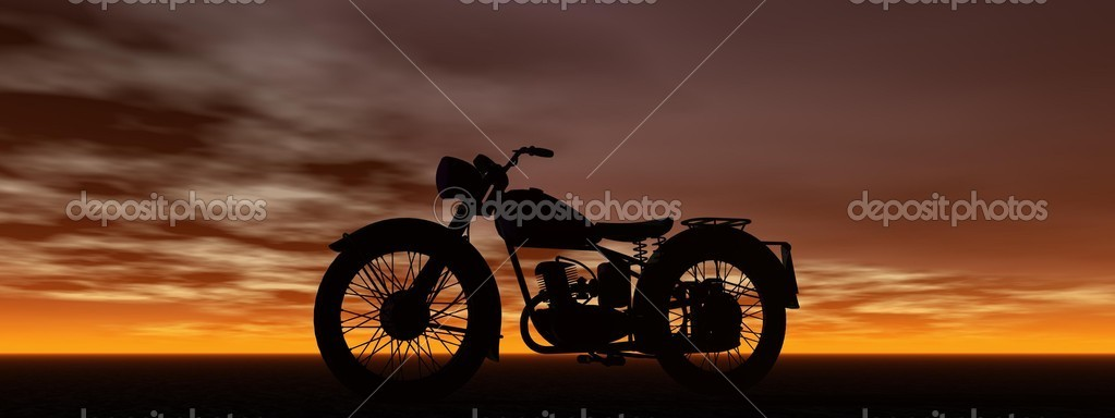 Motorbike and sky — Stock Photo #9820113