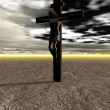 Stock Photo: Cross and sky