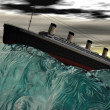 Titanic and sea - Stock Photo