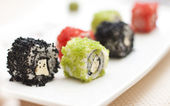 Sushi and rolls (shallow dof) — Stock Photo