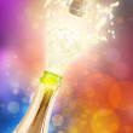 Champagne explosion.Celebrating concept — Stock Photo
