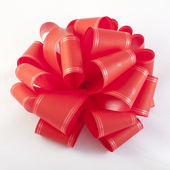 Holiday red bow — Stock Photo