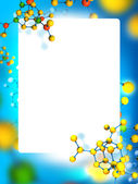 Frame with molecules background — Stock Photo