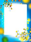 Marco con el fondo de las moléculas — Foto de Stock