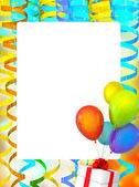 Frame of holiday background with baloons — Stock Photo