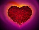 Dark red heart — Stock Photo