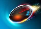 Burning speedometer — Stock Photo