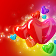 Valentines day background with hearts — Stock Photo #8490735