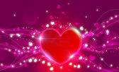 день святого валентина фон с сердечками — Стоковое фото