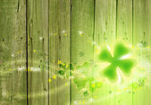 St. Patricks day background. Clover background. — Stock Photo