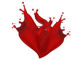 抽象的心脏血液 — 图库照片